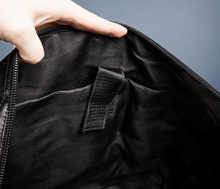 BAG543 Крупная дорожная сумка из кожи черного цвета фото 14