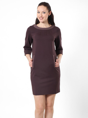 P034-6 платье коричневое