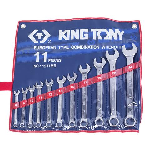 KING TONY (1211MR) Набор комбинированных ключей, 8-24 мм, 11 предметов