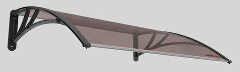Погонаж - Козырёк (1) Форпост «ТОПАЗ-1500»  D1500 A-S для входной двери, цвет коричневый