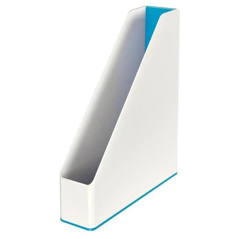 Вертикальный накопитель Leitz WOW 70мм двухцветный синий/белый