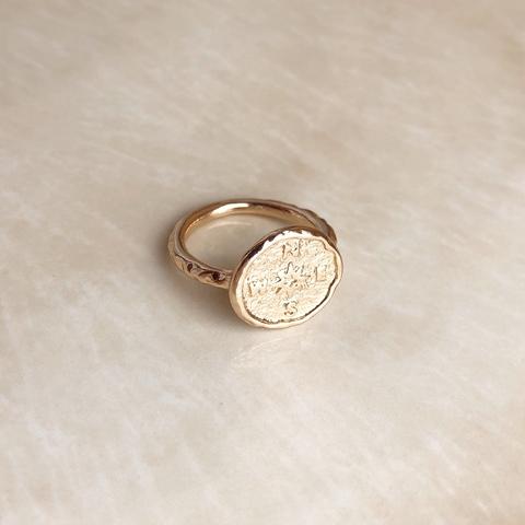 Кольцо Компас, позолота