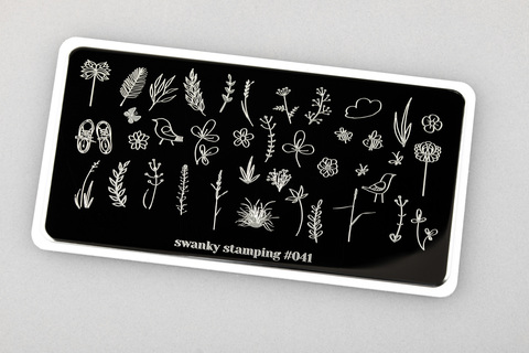 Пластина Swanky Stamping 041