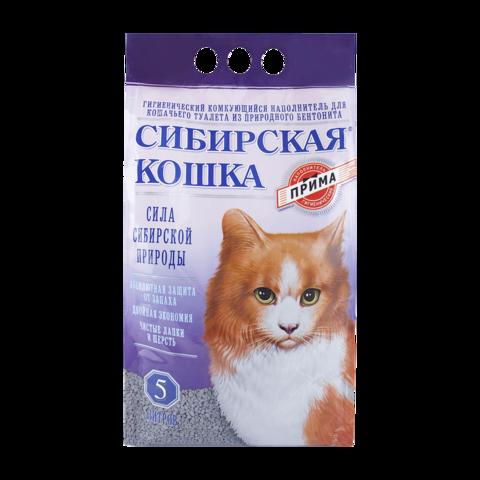 Сибирская кошка Прима Наполнитель для туалета кошек комкующийся