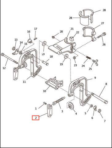Ручка зажима струбцины  для лодочного мотора T2,5 SEA-PRO (6-2)