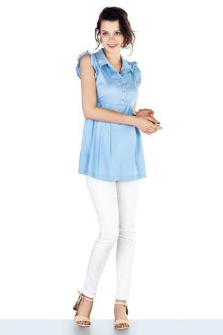 Блузка для беременных 10221 голубой