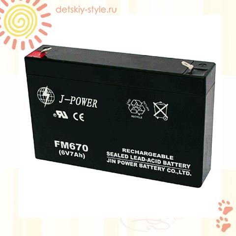 "Аккумулятор Для Электромобиля ""6V/7Ah"""