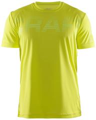 Футболка беговая мужская Craft Prime Run Logo Yellow