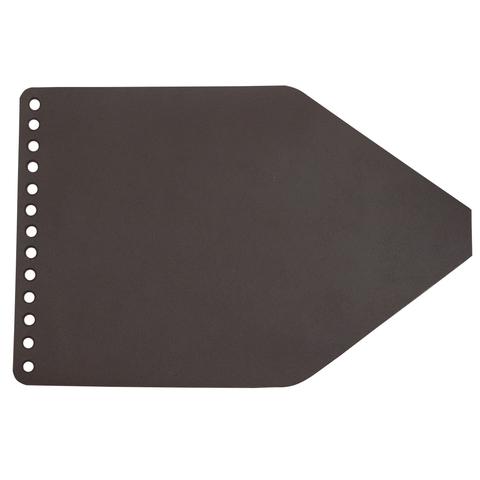 Клапан для рюкзачка кожаный Темно-коричневый 1,6 мм