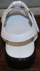 Босоножки женские натуральная кожа Evromoda 15 White.