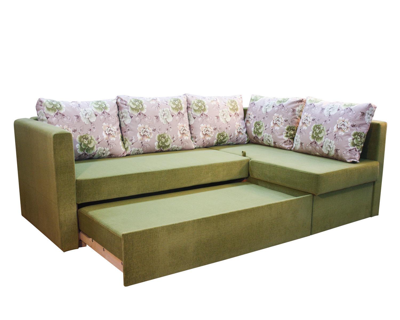 Угловой диван-кровать Карелия 2д2Я, механизм трансформации Дельфин