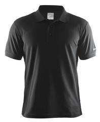 Мужская футболка поло Craft Pique 192466-9999 черная