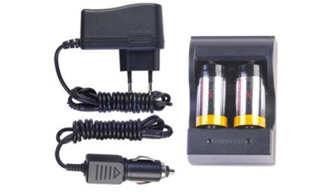 Набор для зарядки NTR123A Set (2 аккумулятора 123A, авто и 220V)
