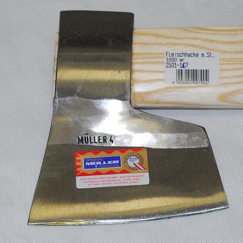 Топор для мяса Leonhard Mueller 1000 г, черная сталь