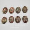 Кабошон овальный Яшма Шкура леопарда, 18х13х5,5 мм