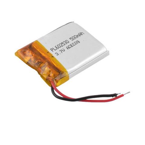 Аккумуляторы литий-полимерный 602530, 500mAh, 3.7V