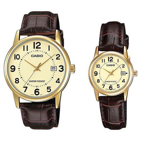 Купить Парные часы Casio Standard: MTP-V002GL-9BUDF и LTP-V002GL-9BUDF по доступной цене