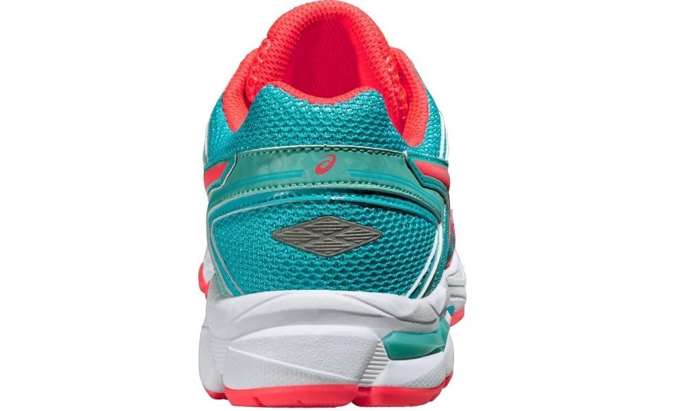 Подростковые беговые кроссовки Asics GT-1000 4 GS (C558N 3920) бирюзовые фото пятка