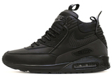 Кроссовки Мужские Nike Air Max 90 Sneakerboot All Black ( с Мехом)