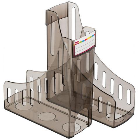 Вертикальный накопитель Attache 100мм тонировано-черный 2 шт/упк