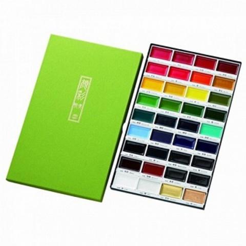 Набор профессиональной японской акварельной краски Gansai Tambi 36цв