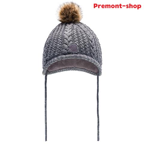 Зимняя шапка Premont WP83921 Grey с завязками