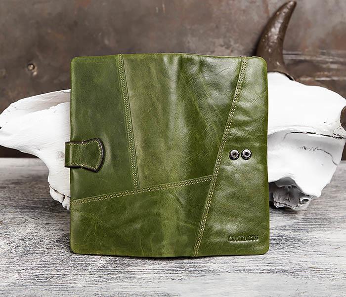 WL252-4 Клатч из натуральной кожи зеленого цвета фото 05