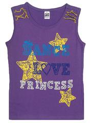 201515 футболка для девочек, лиловая
