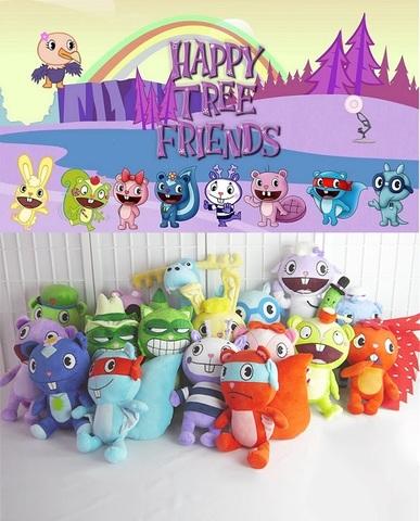 Счастливые лесные друзья мягкие игрушки в ассортименте