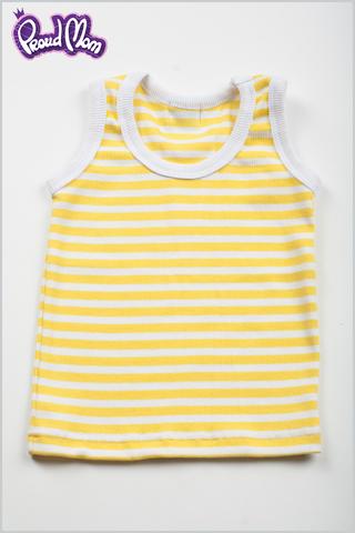 Детская маечка Легкость бытия желтая полоска