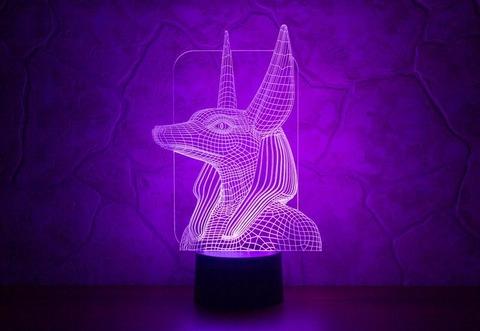 3D лампа Анубис