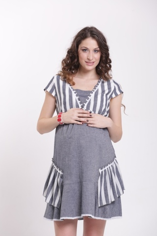 Платье для беременных 05999 синий