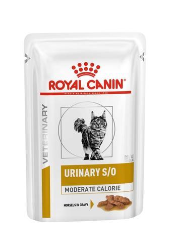 Royal Canin Urinary S/O  Moderate Calorie при лечении МКБ, с курицей 85 г (кусочки в соусе)
