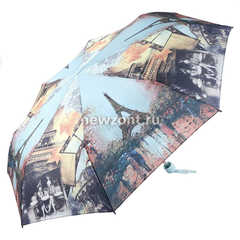 Зонт женский облегченный Magic Rain механика с Эйфелевой башней