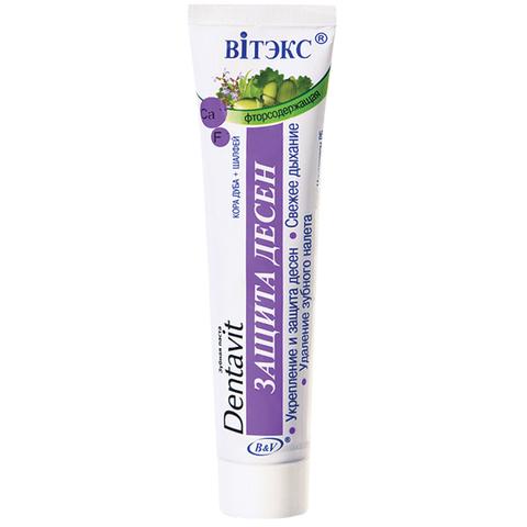 Зубная паста фторсодержащая Кора дуба + Шалфей - Защита десен