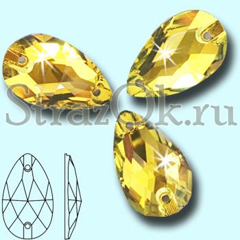 374cf3f1886e Стразы пришивные Drope Citrine, Капля Цитрин ярко-желтый купить ...
