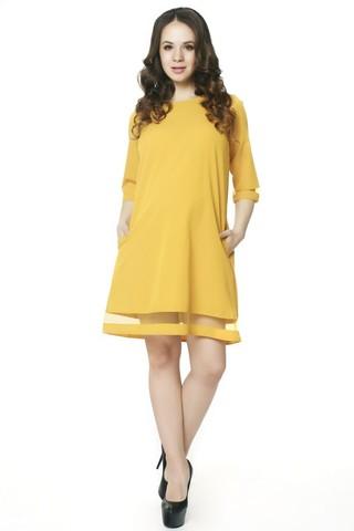 Платье 07560 горчичный