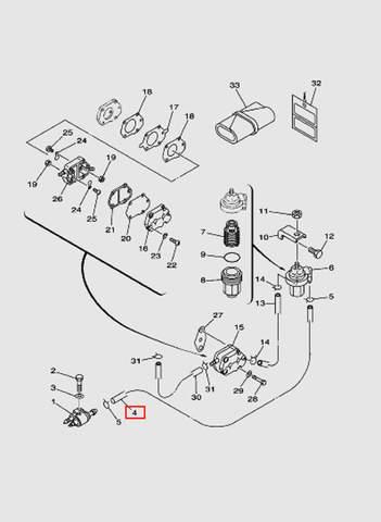 Шланг L550 для лодочного мотора T40 Sea-PRO (6-4)