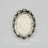 Сеттинг - основа для камеи или кабошона 18х13 мм (оксид серебра)