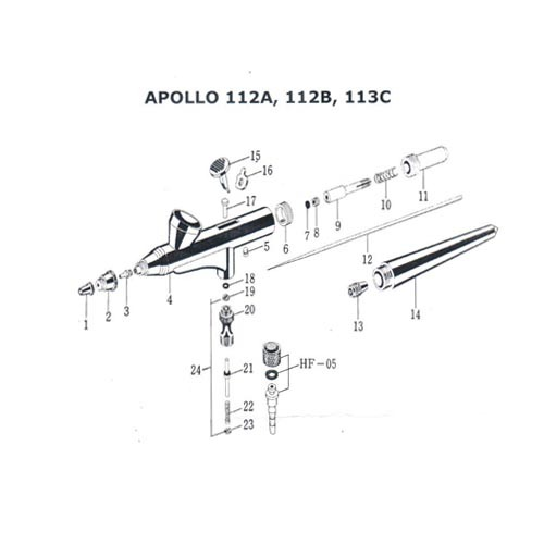Аэрограф RichPen Apollo 112В