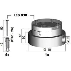 База для напольного смесителя Paffoni Light LIG030 фото