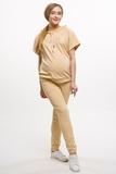 Спортивный костюм для беременных и кормящих 10621 бежевый