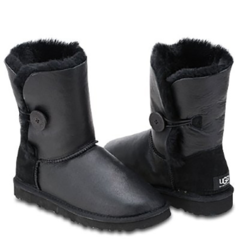 UGG Kids Bailey Button Metallic Black