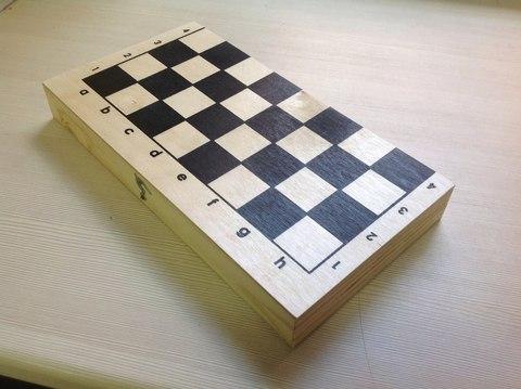 Шахматы лакированные с доской (290*145)