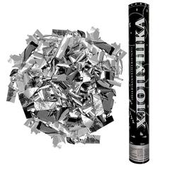 Пневмохлопушка (16''/40 см) Металлизированное конфетти, Серебро