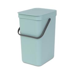 Ведро для мусора Brabantia Sort&Go мятное 12л