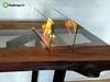 Стол с биокамином Firetable Slebs Brown 2000MS с огнем