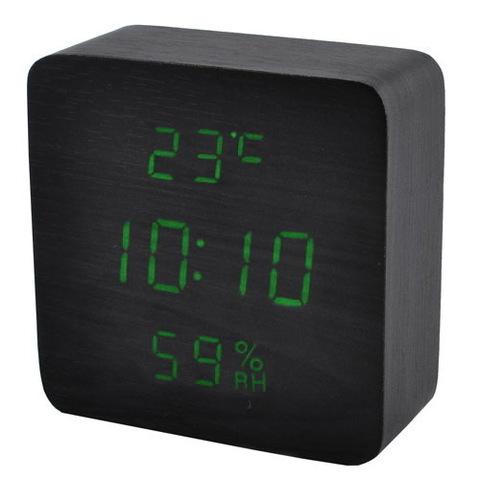 Часы сетевые 872S-4 зеленые, USB