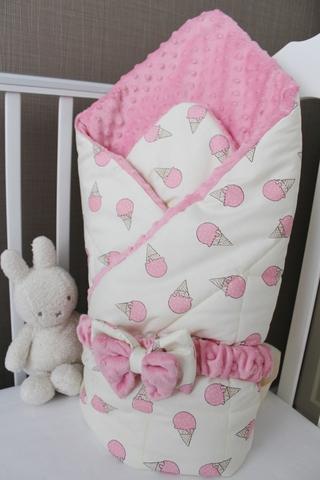 Демисезонное одеяло - конверт на выписку Моя мороженка