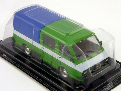 RAF-2909 Olympic pickup double cabin 1979 1:43 DeAgostini Auto Legends USSR #234
